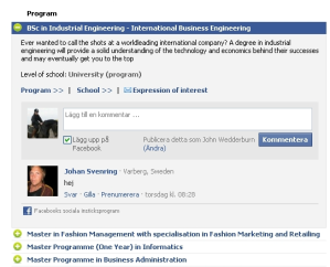 Borås Facebook Education Tab