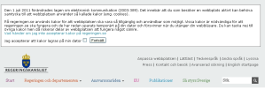 swedish government website cookie banner